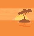 summer vacation holiday tropical ocean island vector image vector image