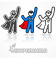 superhero icon set vector image vector image
