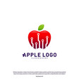 tech apple logo design concept fast apple vector image