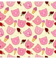 The pattern of the snouts of pigs and ice cream vector image