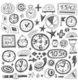 Time Doodles vector image