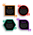 trendy dark color quote mark template design vector image vector image