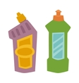 Two plastic spray cleanser bottle with cleaning vector image