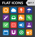 Universal Colorful Flat Icons Set 7 vector image vector image