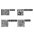 universal product code barcode types realistic vector image vector image