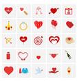 valentines icons set vector image