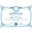 vintage christmas certificate polar bear vector image vector image