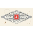 vintage label organized layers vector image vector image
