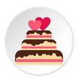 wedding cake icon circle vector image vector image