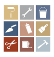 Working Tools Icons Set 9 vector image vector image