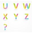 Logo letters u v w x y z question company design vector image