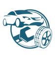car repair and tires vector image