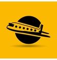 travel airplane transport design graphic vector image