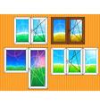 Set of window templates vector image