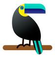 a bright tropical bird vector image