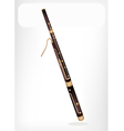 A Classical Bassoon with A White Banner vector image vector image