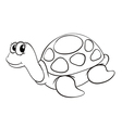 a tortoise sketch vector image vector image