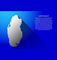abstract map of qatar with long gradient shadow vector image vector image