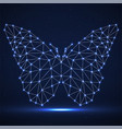 abstract neon butterfly of lines and dots vector image vector image