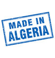 algeria blue square grunge made in stamp vector image vector image