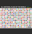all official national flags world vector image vector image