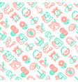 allergy seamless pattern with thin line icons vector image vector image
