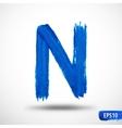 Alphabet Letter N Watercolor Alphabet vector image vector image