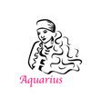aquarius woman vector image