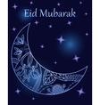 Background eid mubarak with crescent vector image