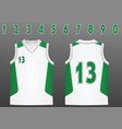 basketball jersey vector image vector image