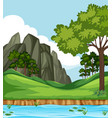 beautiful nature landscape background vector image vector image
