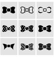 black bow ties icon set vector image
