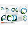 blue swirl banners set vector image vector image