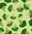 Broccoli seamless pattern Green broccoli von vector image vector image
