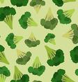 Broccoli seamless pattern Green broccoli von vector image