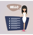 Business woman presentation Retro style vector image vector image
