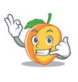 call me apricot mascot cartoon style vector image vector image