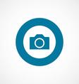camera bold blue border circle icon vector image vector image