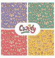 candy patterns set vector image