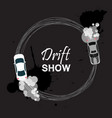 car drift card drift show vector image