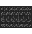 Chalk linear medical icons set vector image vector image