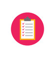 checklist - concept icon in flat graphic design vector image