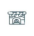 chimney fire happy christmas line icon vector image vector image