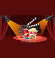 cinema movie icons set cartoon style vector image vector image