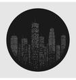 City Skyscraper Emblem vector image vector image