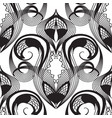 damask lace black and white seamless pattern vector image vector image