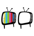doodle objects for televisions vector image