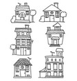 doodle of house set collection vector image vector image