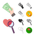 e-commerce purchase and sale cartoonblackflat vector image