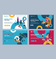 education concept landing web page template set 3d vector image vector image